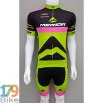 ชุดจักรยานแขนสั้น Merida 2016 เขียวดำชมพู