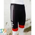 กางเกงปั่นจักรยานขาสั้น Sky ดำขาวแดง