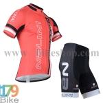 ชุดจักรยานแขนสั้น Nalini 2015 สีแดงดำ