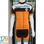 ชุดจักรยานแขนสั้น Bianchi 2016 ขาวดำส้ม