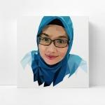กรอบลอยแคนวาส วาดภาพเว็กเตอร์ Low polygon portrait