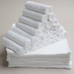 """ผ้าขนหนูเช็ดหน้าขายส่ง ไซร์ 12""""x12"""" สีขาว ( 5 โหล)"""