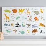 กรอบลอยแคนวาส Animal alphabet แนวนอน