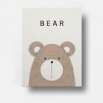 กรอบลอยผ้าแคนวาส ภาพวาดหมี