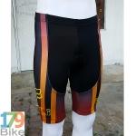 กางเกงปั่นจักรยานขาสั้น Fox สีดำส้ม