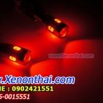 LED-T10-5730-6SMD-หัวเลนส์ แสงสีแดง