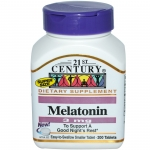 21st Century , เมลาโทนิน (Melatonin), 3 มิลลิกรัม, 200 เม็ด