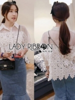 Adele Quirky White Lace Shirt