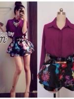 Secret Flower Skirt Set