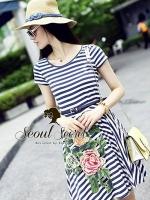Bloom Sew Stripy A-Dress