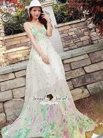 Emerald Flora Maxi Dress
