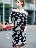 Floral Embroidered Luxury Dress