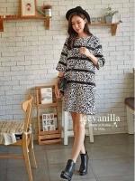 Made Leopard Guess Ribbon chic Dress