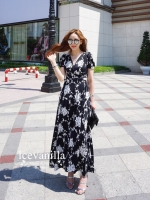 Anna wrinkles 3D long length Dress