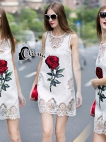Luxury Embroidered Rose Lace