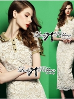 Lady Emily Sexy Elegant Lace Shirt Maxi Dress