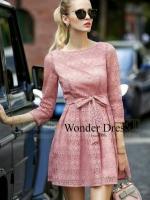 QUEEN PREMIUM QUALITY DRESS KOREA DESIGN BY WONDER DRESS SHOP สินค้าพร้อมส่ง เดรสลูกไม้ฉลุลายสวย เนื้อผ้าลูกไม้นำเข้าคุณภาพพรีเมี่ยมตัดเย็บด้วยความปราณีต รูปทรงสวย เรียบหรู มาพร้อมเชือกผูกเอวเนื้อผ้าเดียวกัน รับประกันทั้งเนื้อผ้า งานพิมพ์ Cutting Pattern