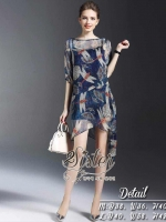 Navy Color dress with Cuties Dragonflies Pattern