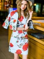 DG Luxury Roses Jacket + Dress Set - Jacket