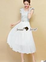 Little Princess Denim Pleat Dress