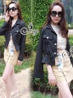 Smart Casual Long Sleeve High Waist Jacket