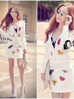 Xena Sport Wear Top + Skirt Set