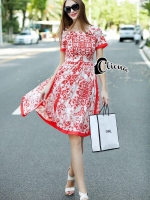 DG Red Palace Line Luxury Dress