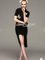 Fendi Cut Out Premium Long Dress