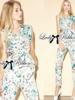 Floral Printed Sleeveless Jumpsuit