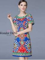 D&G PREMIUM QUALITY DRESS สินค้าเกรด HI-END เดรสลายใหม่ล่าสุดจากแบรนด์ D&G เนื้อผ้า ลวดลายและสีสันที่สวยงามมาก สินค้านำเข้าคุณภาพ Premium Quality Korea งานสวย รับประกันทั้ง Cutting Pattern ....งานป้าย Wonder Dress ....สีเดียวตามแบบค่ะ ....งานมีซับในทั้งตั