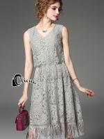 Luxury 2 Levels Lace Dress