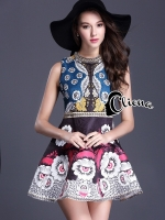 Luxury Eyes Printing DG Dress