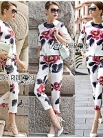 Lady Gwen Chic Floral Blossom Printed Set