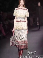Short-sleeve Asian Supreme Vintage Maxi Dress