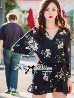 Sexy Flowery Printed Rope Jumpsuit