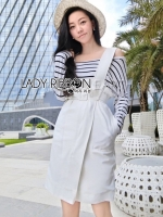 Jennifer Minimal Chic Striped Top and Overall Set