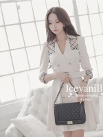 Luxury autumn and winter coat Korean style Dress