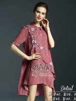 Red Color Style Lady Sakura Dress
