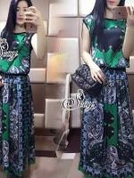 Sevy Graphic Vintage Sleeveless Blouse With Long Skirt Sets Type: Blouse+Skirt (Sets) Fabric: Cotton Detail: เซทเสื้อแขนกุ๊ดมาพร้อมกระโปรงยาว พิมพ์ลายกราฟฟิกโทนสีเขียวเข้าเซทกัน ใส่ออกมาได้ลุคฮิปปี้ เก๋ๆค่ะ