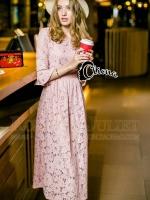 Paris Extra Luxury Long Lace Dress