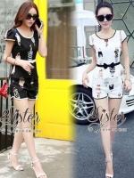 Black & White Korea Mini Set style Lady Fairy