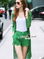 Olive Greenly Nifty Outer Lace Set