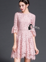 Rosy Pinky Romantica Lace Dress
