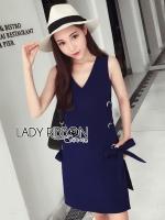 Lady Ribbon's Made &#x1F380 Lady Lucy Minimal Chic Metal Loop Ribbon White Dress เดรสผ้าวิสโคสตกแต่งห่วงเหล็กผูกโบสไตล์มินิมัลชิค ตัวนี้เก๋ไม่เหมือนใครสุดๆ ทรงชุดเป็นแขนกุด แต่เพิ่มความโดดเด่นด้วยด้านข้างปักห่วงเหล็กสีเงินเป็นแถบยาวลงมาแล้วผูกผ้าเป็น