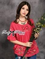 Lady Ashley Bohemian Embroidered Kaftan Top