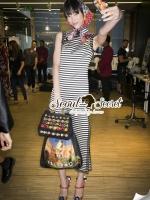 Nifty Stripe Rose Maxi Dress