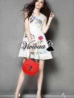 Butterfly ivory net girl dress