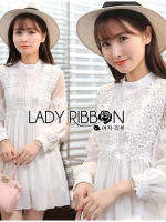 Alison Pretty Princess Lace and Chiffon White Dress