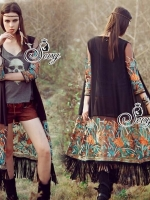 South Africa Bohemian Embroidered Long Jacket Cardigan