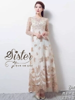 The Classical charmed golden lace formal